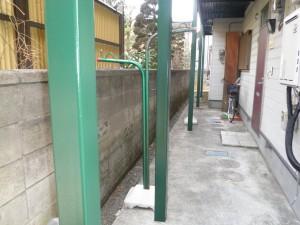 アパート外階段塗装工事