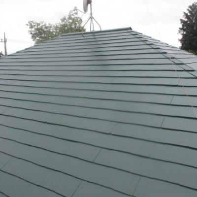 高根沢町 天窓撤去・屋根塗装工事 屋根(コロニアルベスト)