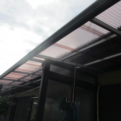宇都宮市 テラス屋根波板貼替工事