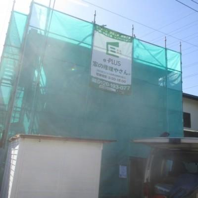 宇都宮市 屋根・外壁塗装・雨樋交換工事 屋根コロニアル (外壁 モルタル塗り壁)