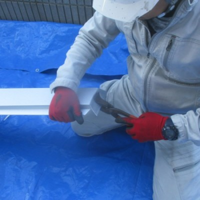 宇都宮市 波板カバー工事 ガルバリウム鋼板波板使用