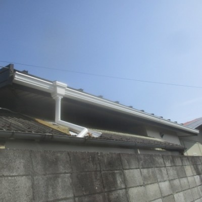 矢板市 火災保険適用雨樋一部交換工事
