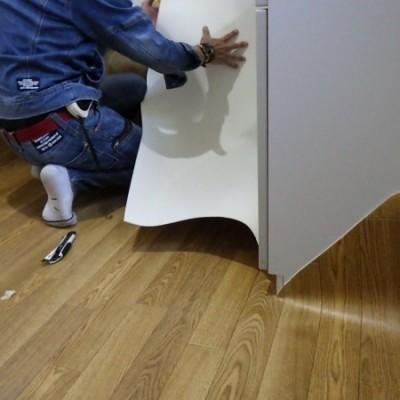 宇都宮市  浴室ドア交換・クッションフロア貼替工事