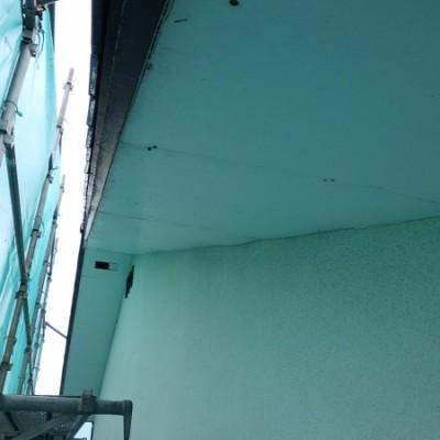 宇都宮市 外壁塗装工事・キッチンリフォーム工事 二日目 軒天重ね張り補修