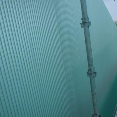 宇都宮市 サイディングカバー工事 12日目 サイディング貼り完了 笠木取付