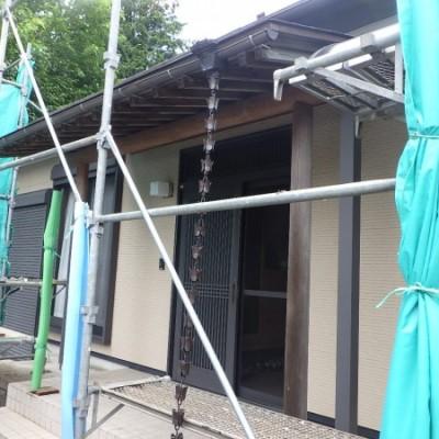 宇都宮市 外壁塗装工事 1日目 高圧洗浄
