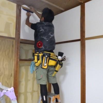 内装リフォーム工事  in宇都宮市 「和室パテ・クロス貼り」