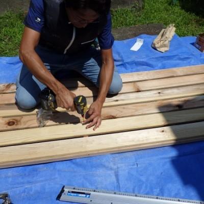 内装リフォーム工事  床、天井雨漏り補修 からの 追加工事いただきました♪