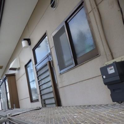 宇都宮市 外壁塗装工事 初日 高圧洗浄